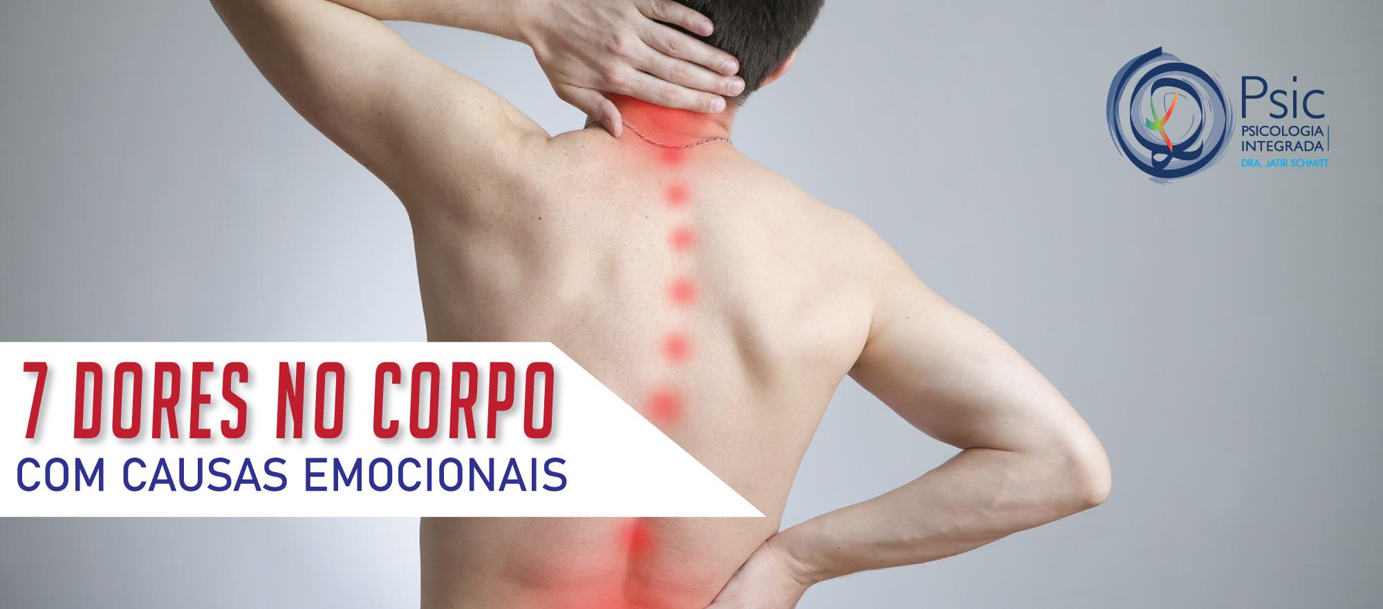 7 dores no corpo com causas emocionais