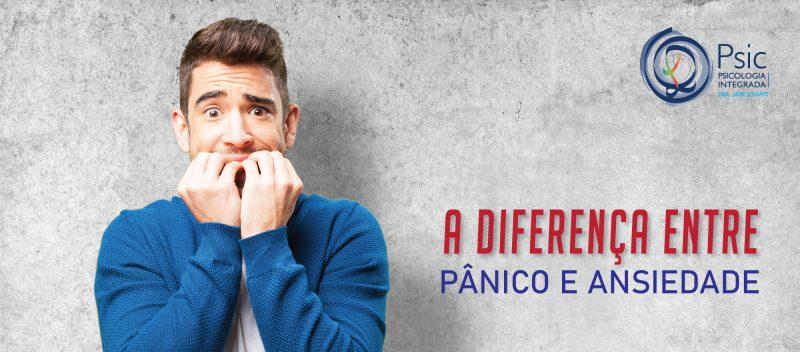 A diferença entre Ansiedade e Pânico