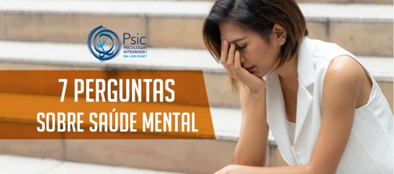 7 perguntas sobre saúde mental